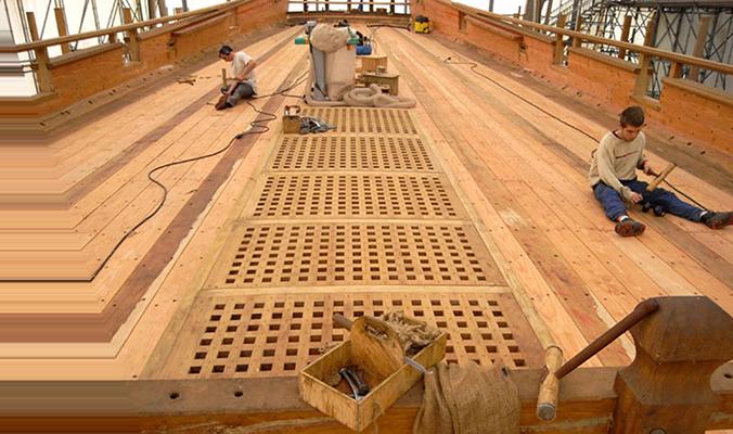 Le calfatage du pont de gaillard en 2008