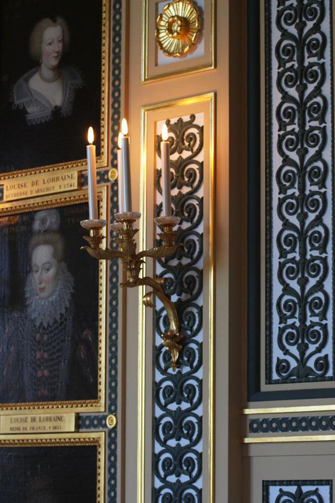 Boiseries dans la Galerie de Guise au château d'Eu en Normandie