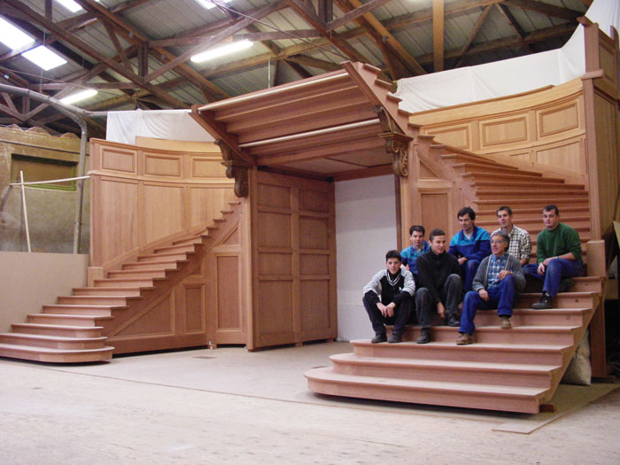 Escalier de l'hôtel de ville de Saint Denis de la Réunion