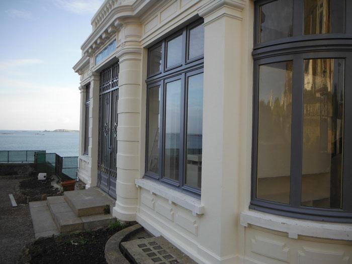 Maison Les Roches Brunes à Dinard restitutions des fenêtres