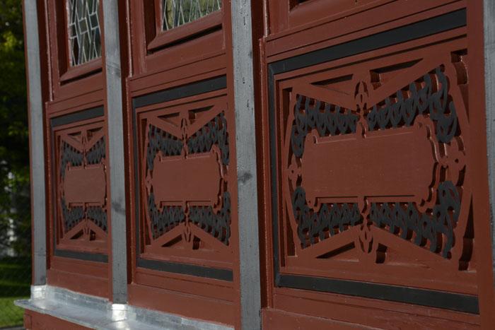 Panneaux extérieurs du Pavillon des Indes à Courbevoie