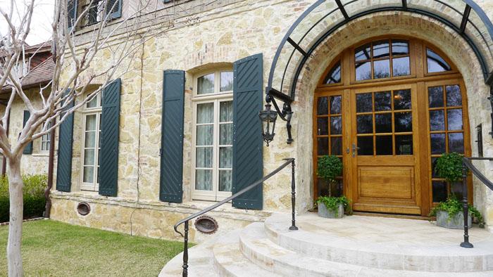 Porte d'entrée dans une résidence au Texas