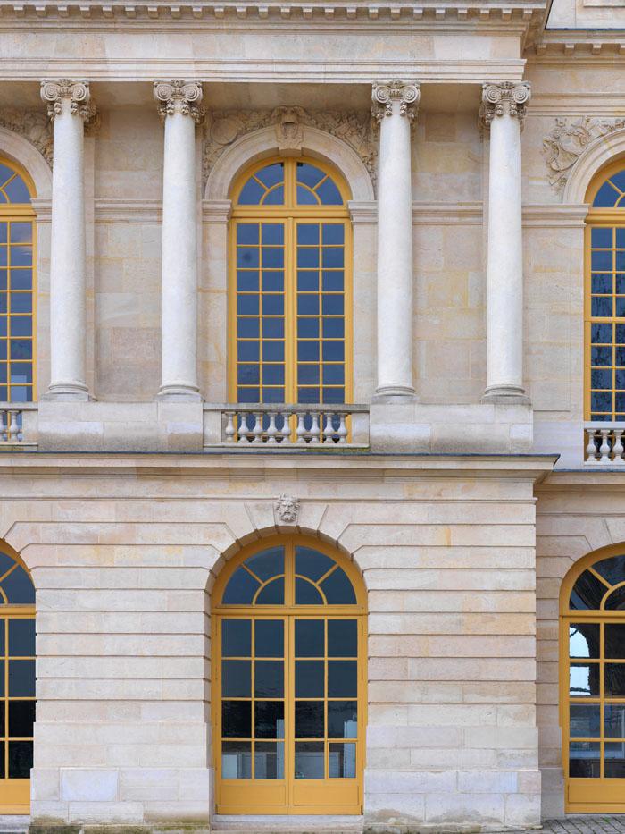Restauration de la façade ouest du château de Versailles