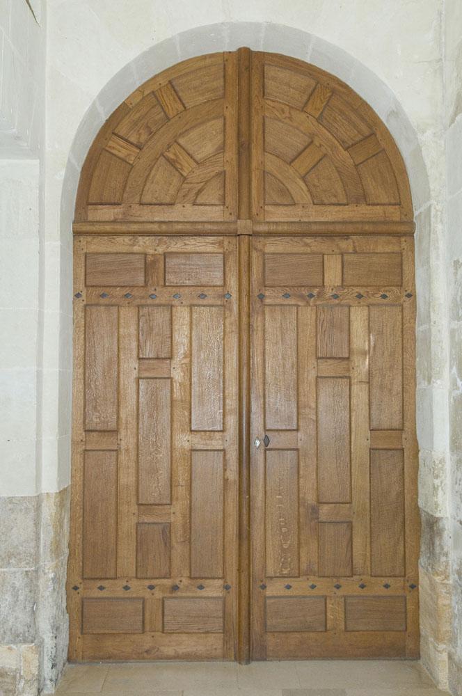 Restauration d'une porte cochère au château de Thouars en Poitou-Charentes
