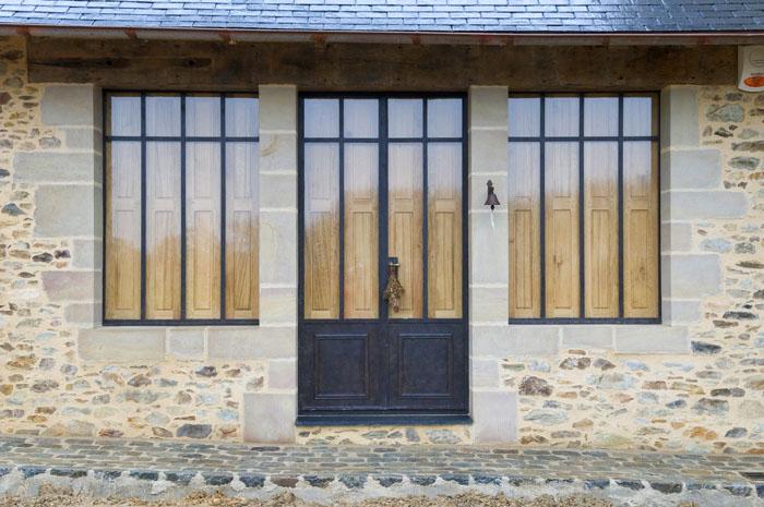 Volets intérieurs au Logis de la Grée en Pays de la Loire